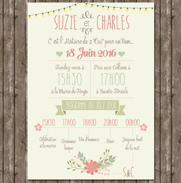 Fresh Wedding invitation
