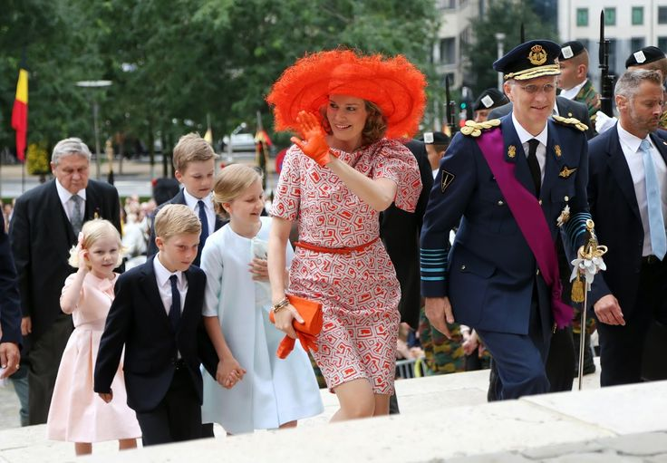 Members of the Belgian Royal Family celebrates National Day in Brussels