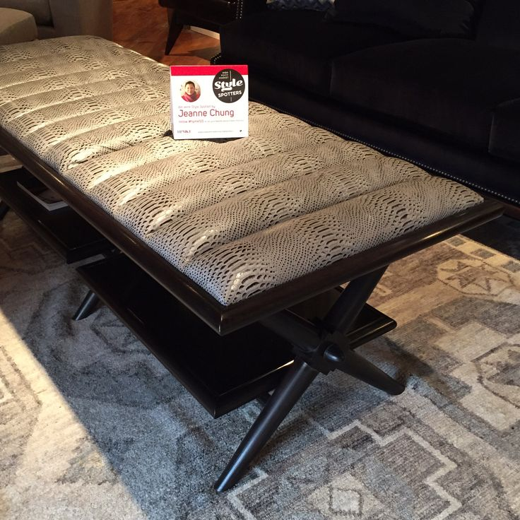 The Sexy Yet Masculine Fulham Channel Upholstered Table In Faux Snake From  Hickory Chair Market Square