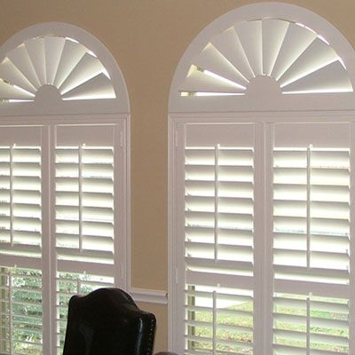 Just found the perfect window treatments!! - Blinds.com. –  Custom Composite Wood Arch #homedecor #blinds #arches