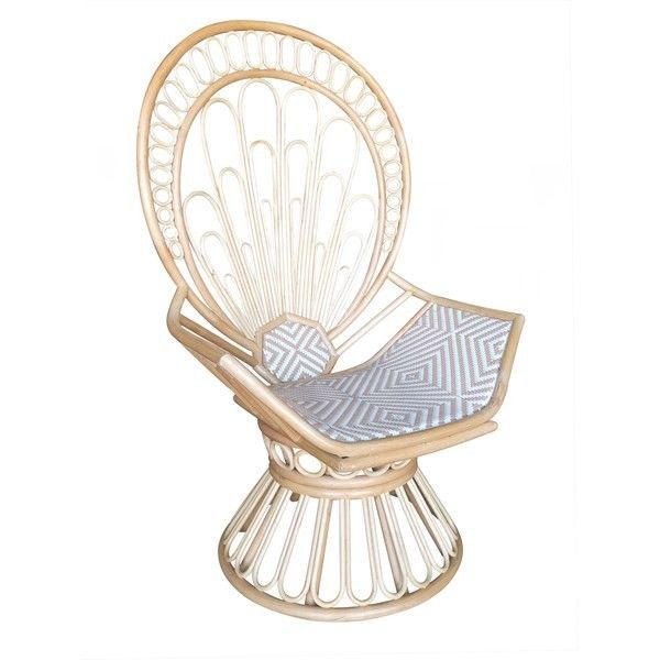 Rattan Peacock Chair from The Well Appointed House
