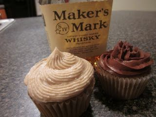 Maker's Mark Cupcakes because baking always goes better with alcohol