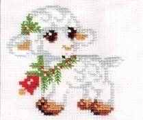 Schema punto croce Pecorella 1