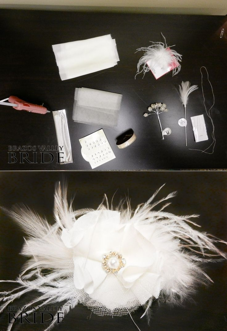 How To DIY Gatsby Inspired Feather Hair Piece : DIY Hair Accessories