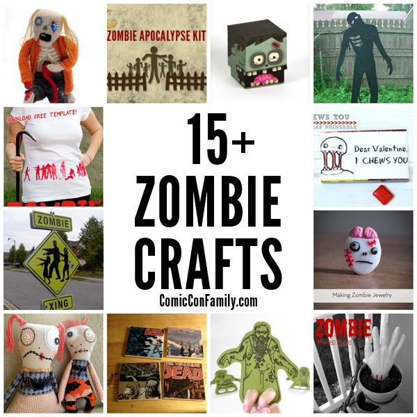 15 Zombie Crafts Crafty 2 The Core Diy Galore Pinterest