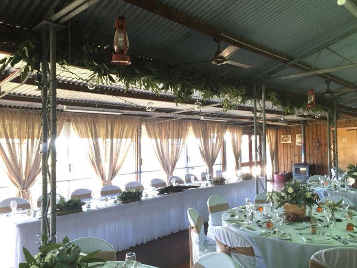 Gum leaf installation at Tobruk Sheep Station by Flowermepretty.com.au