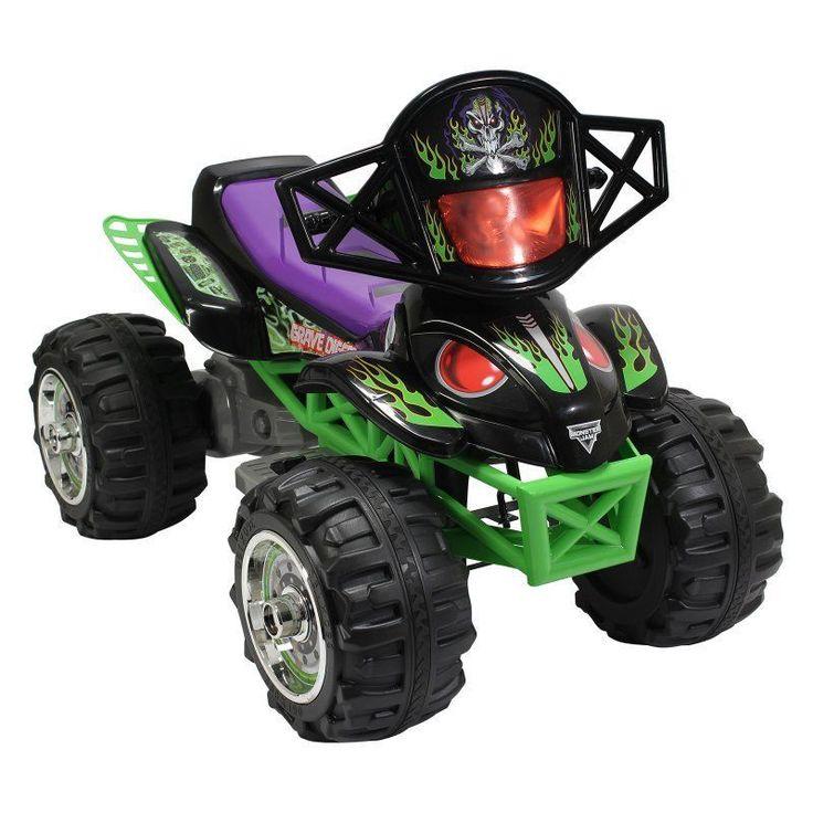 Monster Jam Grave Digger Quad ATV Riding Toy - 164554 ...