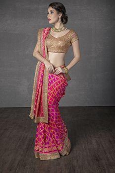 Love the Banarasi Saree from BenzerWorld!