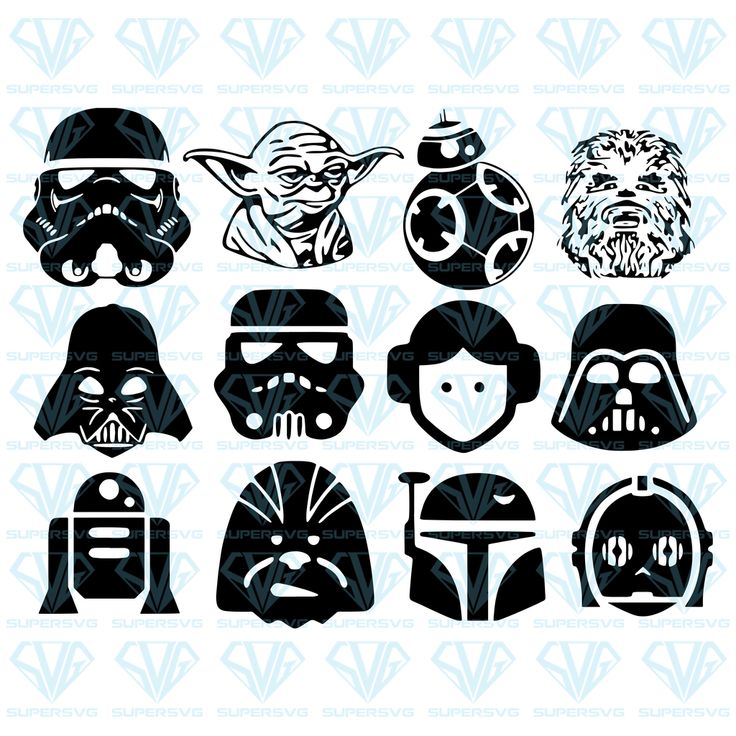 Star Wars SVG Files For Silhouette, Files For Cricut, SVG
