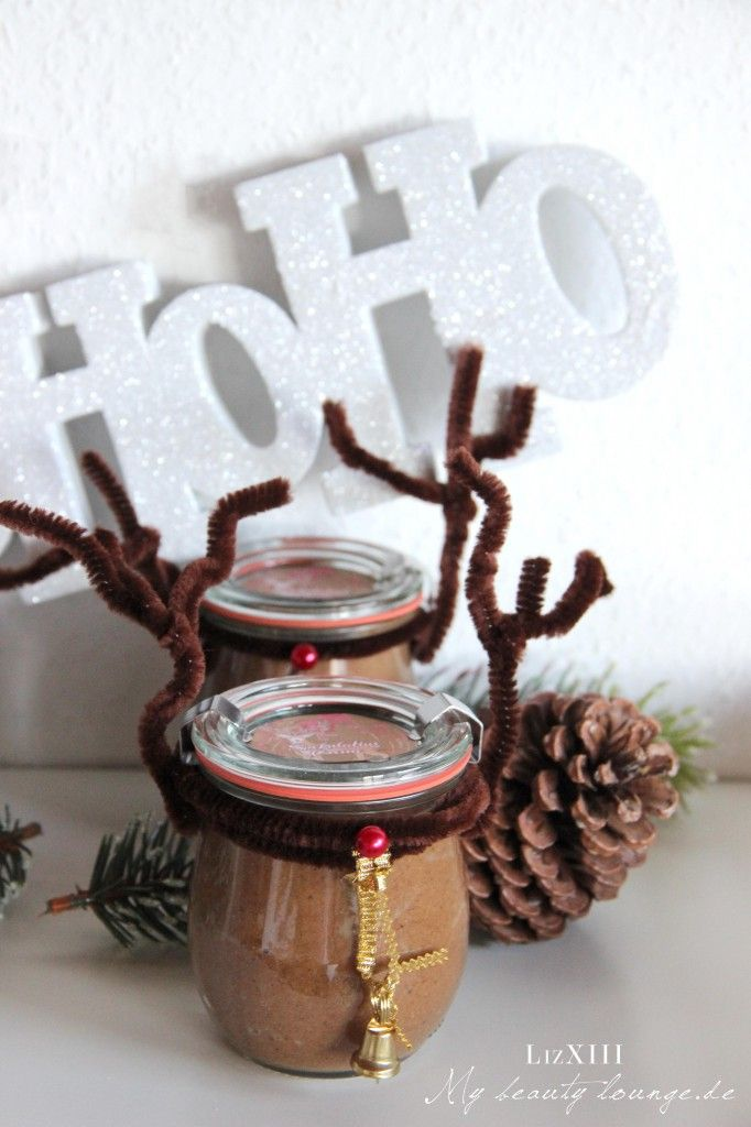 DIY Rudolph Reindeer glas filled with speculoos cream | mybeautylounge.de