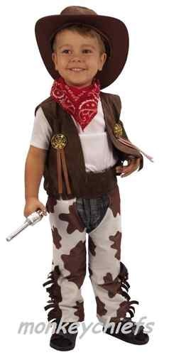 Childrens/Toddler/Kids Cowboy Fancy Dress Costume With Hat Ages 2-3 | eBay