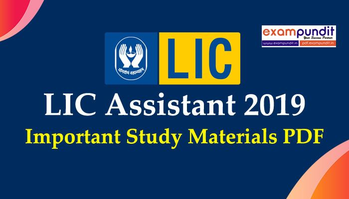 Lic Assistant Exam Study Material Pdf Download Now Exam Study