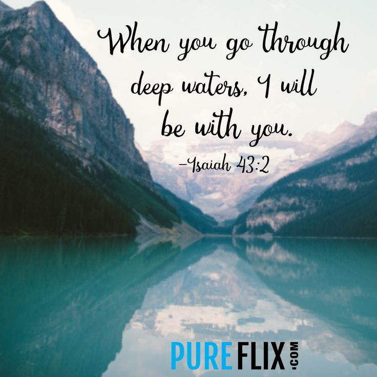 He will be with you! #VerseoftheDay Find more quotes at http://klove.cta.gs/282 [@PureFlix]