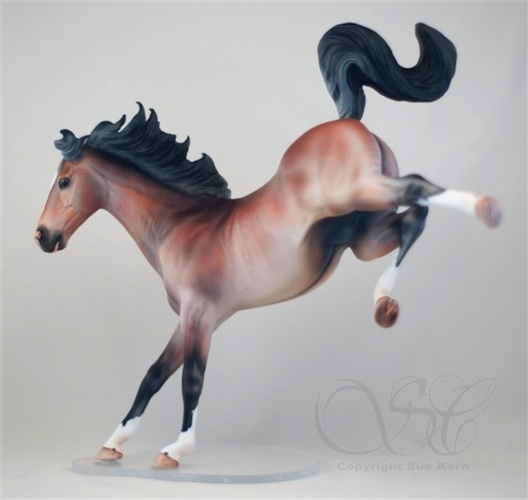 Stone Arabian customized and painted by Sue Kern