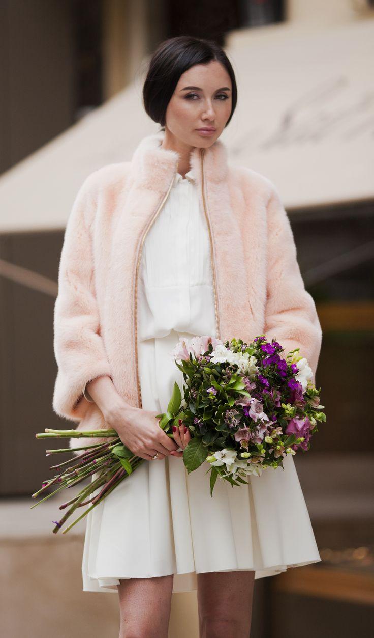 Pale pink mink coat by ADAMOFUR #pink #pastel #minkfur #fur #furstyle #furfashion #luxury #shopping