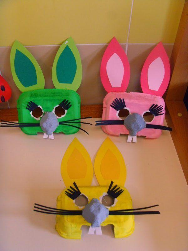 Caretas de Conejos con Materiales Reciclados   Fiestas y Cumples