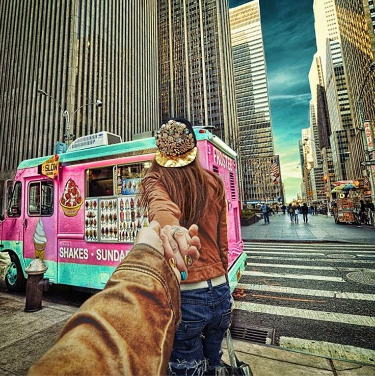 Best FOLLOW ME Images On Pinterest - Guy takes awesome photos girlfriend tugs along