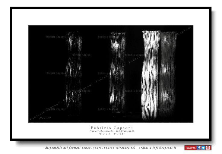 """Four pots"" - ©2007 FABRIZIO CAPSONI - Fine Art Giclée Print on cotton paper - Limited edition - #fotografia #fineart #art #Interiors #homedecor"
