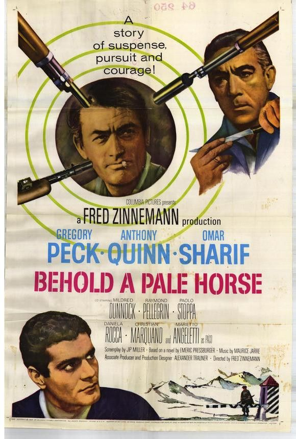 Behold A Pale Horse (1964) Manuel has been on the run for 15 years - and now it seems his time is up. Gregory Peck stars as Manmuel, a guerilla leader who has been sought by a cruel police captain nam