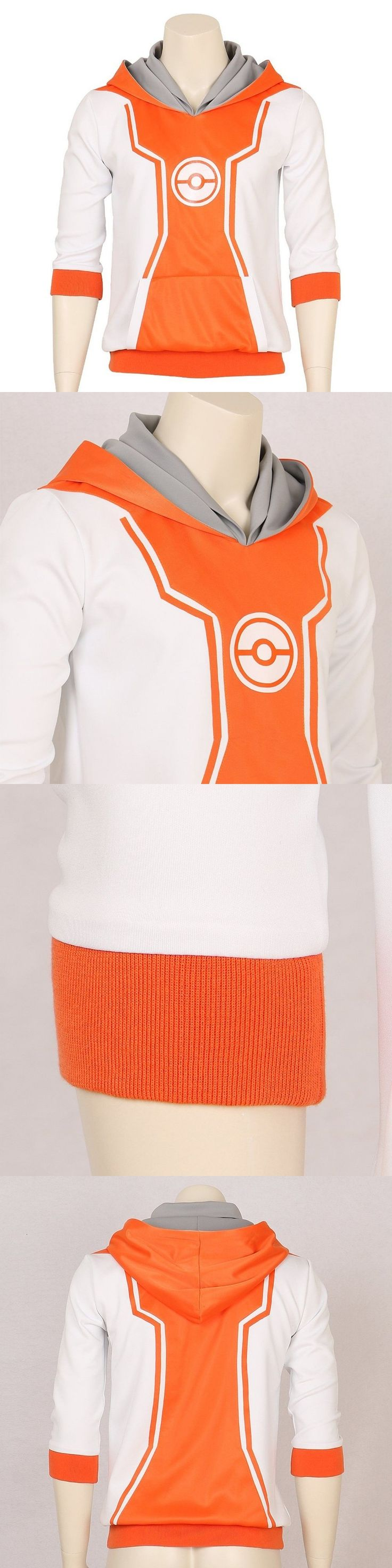 Pokemon Go Monster Trainer Orange Hoodie Hooded Fashion Logo Cosplay Costume Pullover Hoodie Sweatshirt Spring Autumn Version