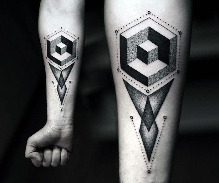 Guys Abstract Tattoo Design