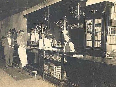 In Taylor, Texas, in 1900, the favoured gathering spot and watering hole was J.H. Mares Saloon.