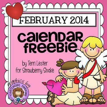 February 2014 Calendar Freebie
