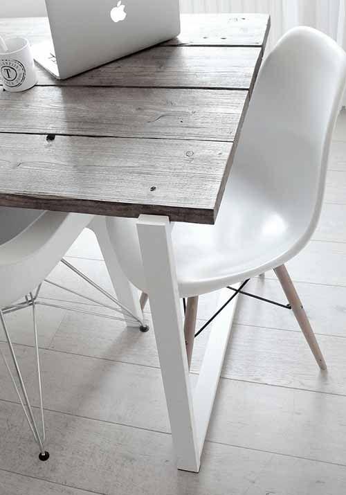 Werkplek; aan de eettafel, huiswerk maken in de gezelligheid en geluiden om je heen.