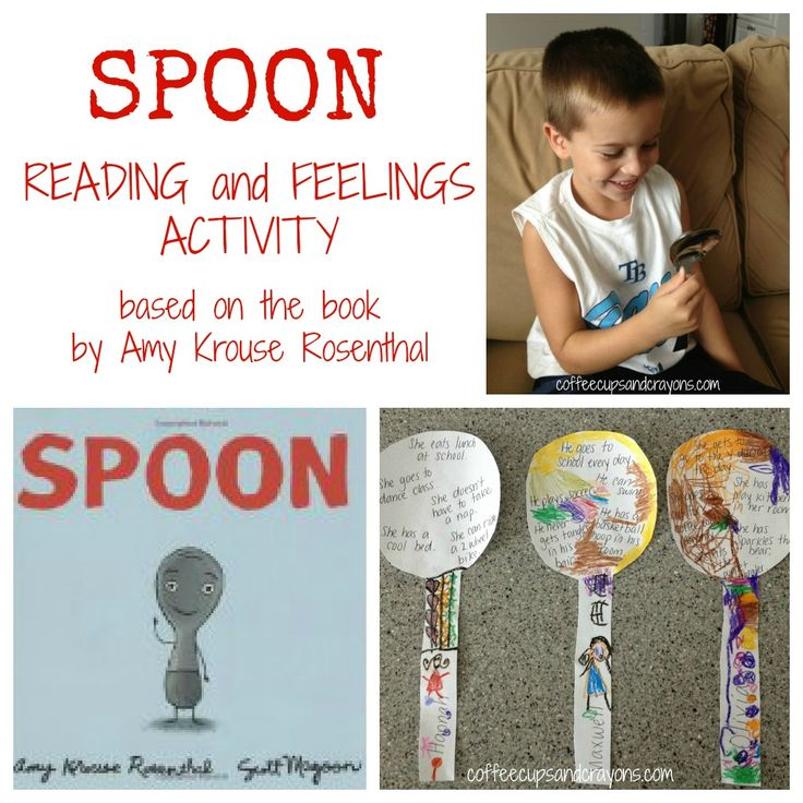 "Feelings Activity Based on the Book ""Spoon"" by Amy Krouse Rosenthal, A must do! craft & writing prompt"
