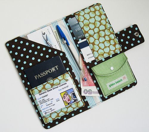 Passport Wallet-Retro Blue Dots | Flickr - Photo Sharing!