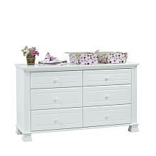 Baby Cache Essentials Double Dresser White