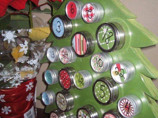 Adventní kalendář jako stromeček