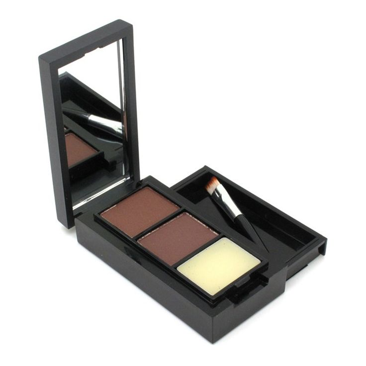 Hot Sale Professional Eye Brow Makeup Eyebrow Powder/Shadow + Eyebrow Wax Palette + Brush Professional Makeup Brush Set