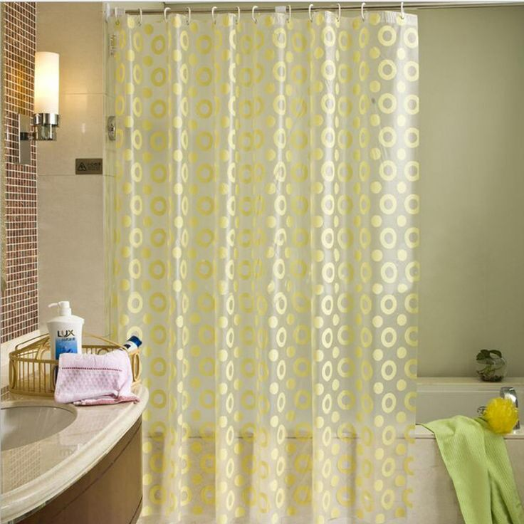 Europe Yellow Shower Curtain PEVA Mold Proof Waterproof Eco friendly Endless Curtains Thick Bathroom Products. 1000  ideas about Yellow Shower Curtains on Pinterest   Yellow
