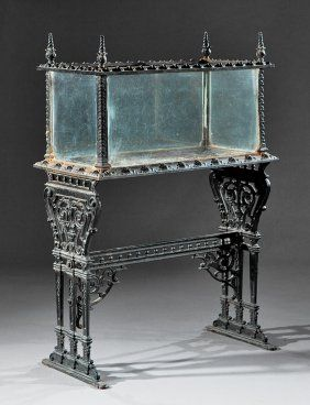 An English Cast Iron Wardian Case On Stand