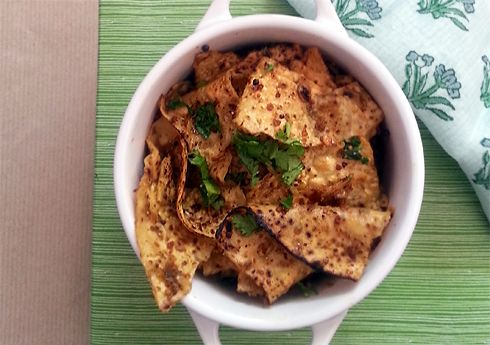 Papad cooked in a heady spice mix of mustard, fenugreek and jaggery. For a stylish accompaniment to an Indian meal.