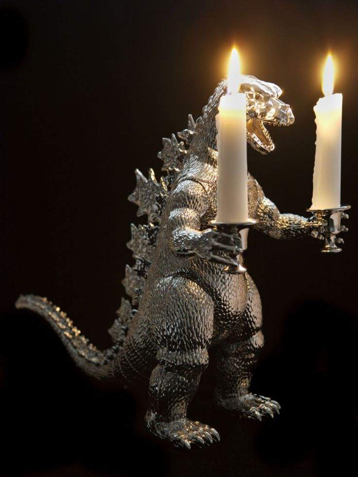 Godzilla candleholder. If u want one, you'll probably have to DiY.