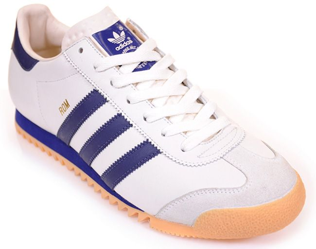 80e0ccc9f1cf1a Adidas ROM. Navy blue stripes were de riguer. If you didn t wear steel toe  construction boots or Cougar boots in the winter
