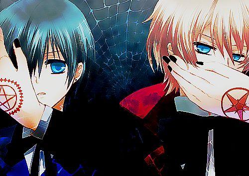 """This is an order, Sebastian!"" Ciel Phantomhive | ""Hoheotararuna ronderotareru!"" Alois Trancy"