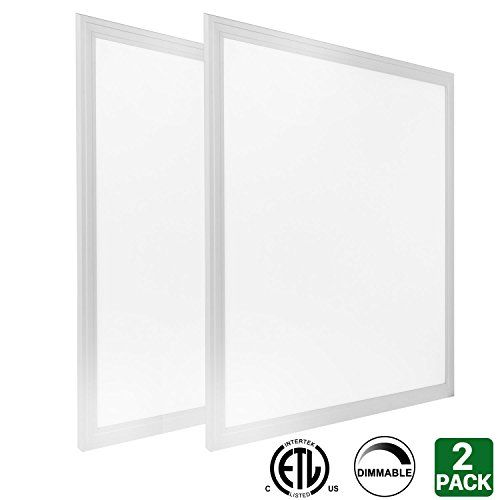 Hykolity 2ft x 2ft 40w LED Troffer Flat Panel Light Ultra Thin Commercial Drop Ceiling Edge-Lit Dimmable Lamp Fixture 5000lm ETL Listed-Pack of 2 #Hykolity #Troffer #Flat #Panel #Light #Ultra #Thin #Commercial #Drop #Ceiling #Edge #Dimmable #Lamp #Fixture #Listed #Pack
