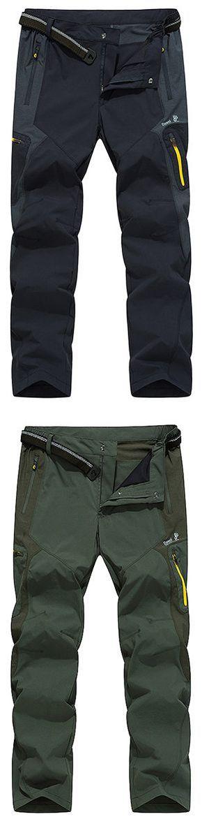 Outdoor Waterproof Quick-Dry Breathable Elastic Sport Pants for Men