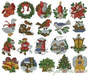 Викторианское рождество - Новогодние игрушки - Новый год - Схемы в XSD - Кладовочка схем - вышивка крестиком
