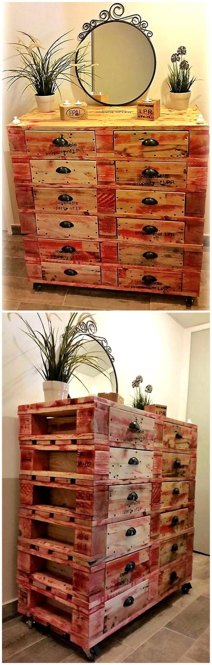 Here we come with reused wood pallet
