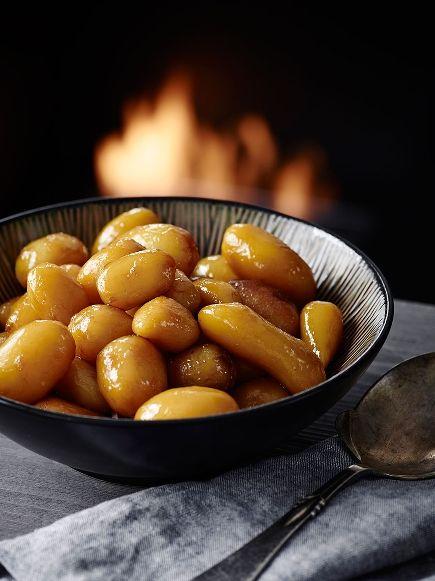Brune kartofler. Se opskriften her. #opskrifter #inspirationdk #brunekartofler #julemad #jul #Actifry #tefal