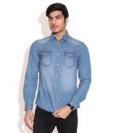 Celio Blue Casual Shirt