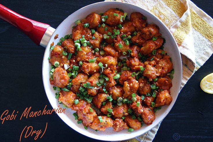Gobi Manchurian Dry is an Indo Chinese dish of Crispy Cauliflower tossed in a delicious Manchurian sauce made with lots of garlic flavor.