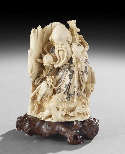 Chinese ivory carving fossil