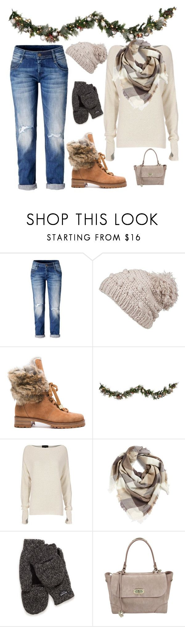 """""""Winter outfit"""" by haleyshimmer ❤ liked on Polyvore featuring prAna, Alexandre Birman, Improvements, Exclusive for Intermix, BP. and Ralph Lauren"""