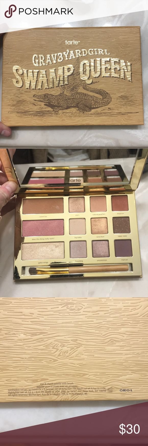 Tarte Limited Edition Eyeshadow Palette Used 2-3 times. Like brand new! Limited Edition Graveyard Girl Palette! tarte Makeup Eyeshadow