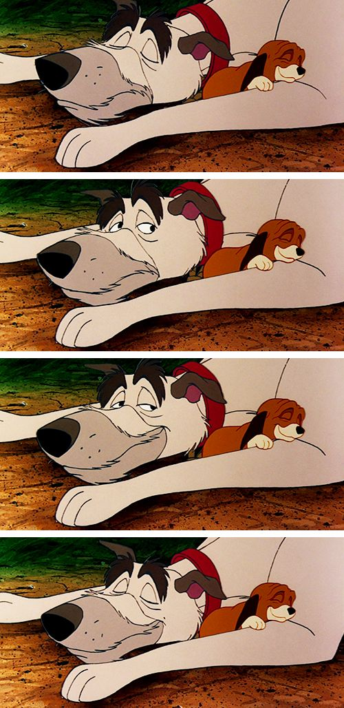 The Fox and the Hound: Chief and Copper.